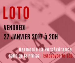 SUPER LOTO vendredi 27 janvier 2017 à 20h à Estavayer-le-Lac
