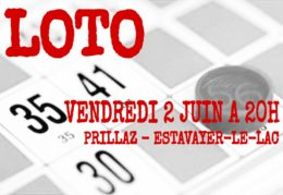 SUPER LOTO vendredi 02 juin 2017 à 20h à Estavayer-le-Lac