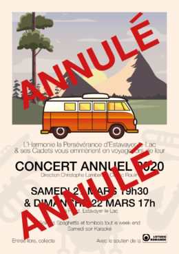 ANNULATION – Concerts annuels 2020