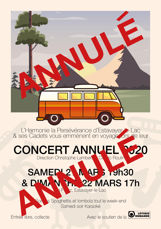 Annulation des concerts annuels 2020